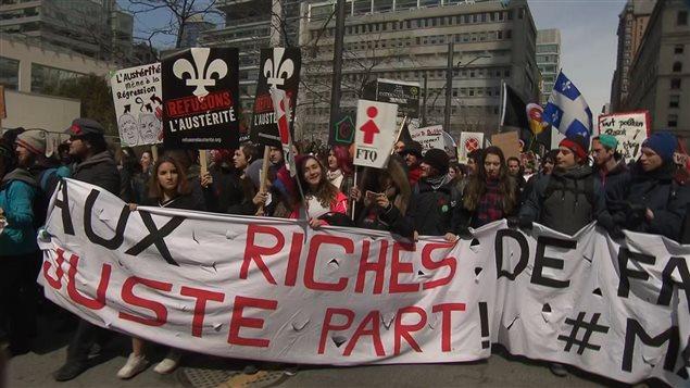Manifestation contre l'austérité du 2 avril 2015