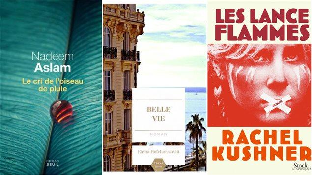 La couverture des livres mentionnés lors du club de lecture du 6 avril 2015