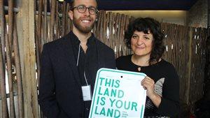 Jonathan Lapalme et Paula Segal, de l'organisme 596 Acres