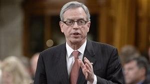Le ministre des Finances, Joe Oliver