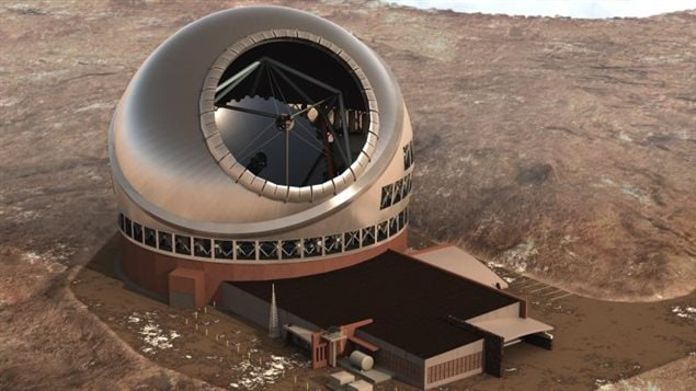 Le design du Télescope de trente mètres, qui doit être construit au sommet du volcan Mauna Kea de Hawaï