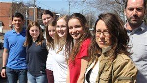 Les participants au projet du Forum Jeunesse Montérégie Est, à Saint-Hyacinthe