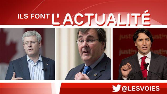 Stephen Harper, François Blais et Justin Trudeau