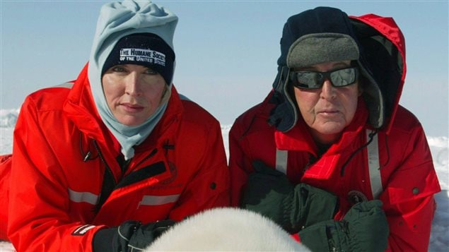 Paul McCartney et Heather Mills, lors de leur passage au Canada en 2006