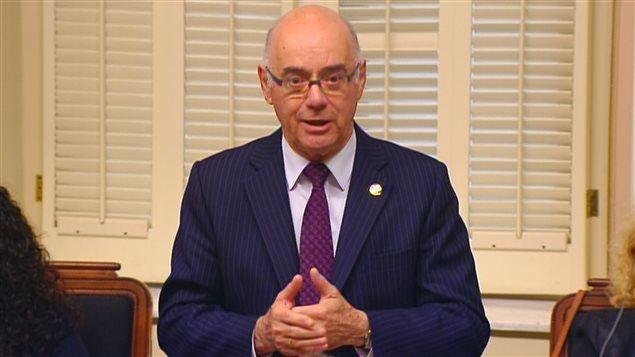 Le ministre de l'Économie du Qébec, Jacques Daoust.