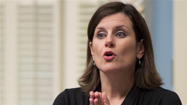 Stéphanie Vallée, ministra de Justicia de Quebec.