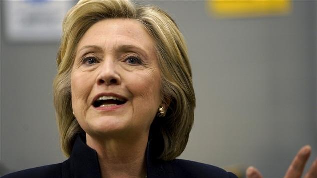 La candidate démocrate aux élections présidentielles de 2016, Hillary Clinton