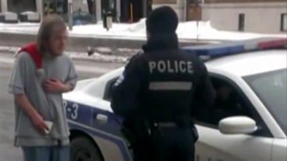 Le policier qui a menacé un itinérant de l'attacher à un poteau devant le Comité de déontologie