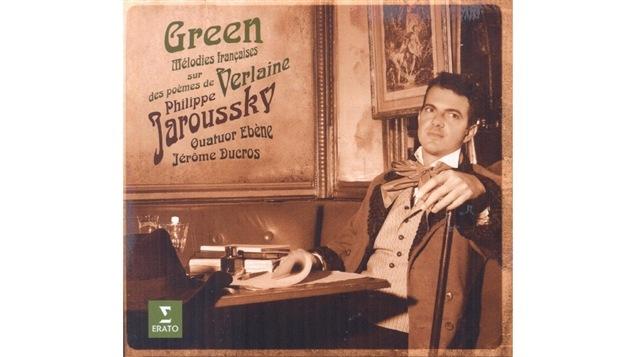 La pochette de <i>Green : mélodies françaises sur des poèmes de Verlaine</i>, de Philippe Jaroussky, paru sous étiquette Erato