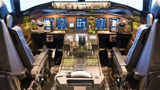 Tableau de commandes d'un avion