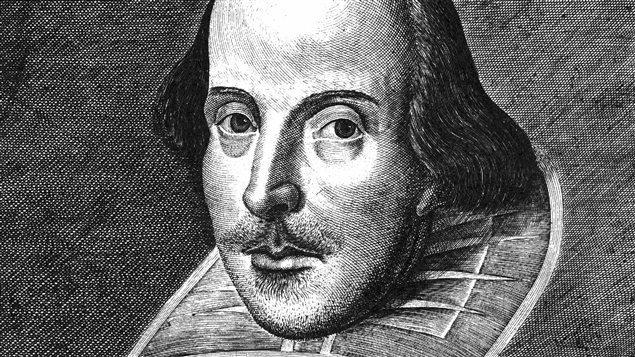 Le dramaturge William Shakespeare (gravure de Martin Droeshout)