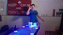 Une table de «bière-pong» hors de l'ordinaire
