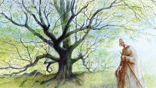 Une scène du film <em>L'homme qui plantait des arbres</em>, de Frédéric Back