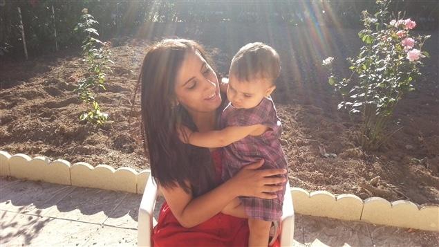 Meriam Rhaiem et sa fille Assia