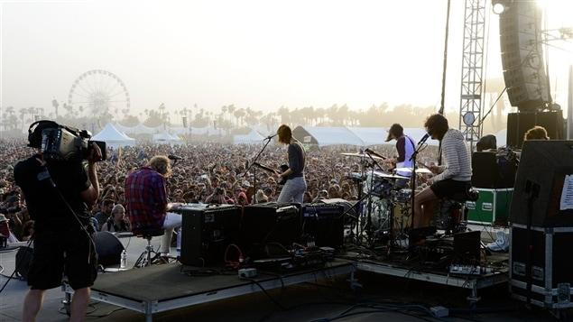 Vue de la scène au festival Coachella, en Californie