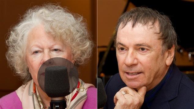 Les journalistes et auteurs Michelle Labrèche-Larouche et André Ducharme