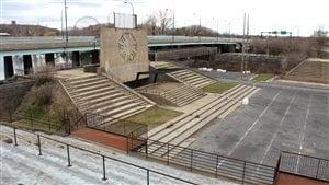 La Place des Nations, site mythique d'Expo 67, sur l'île Sainte-Hélène