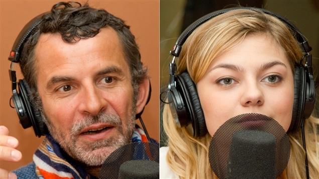 Le réalisateur Éric Lartigau et la chanteuse et comédienne Louane Emera