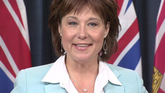 La première ministre de la Colombie-Britannique, Christy Clark.