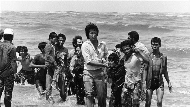 Réfugiés vietnamiens sur les côtes de la Malaisie à la fin des années 70