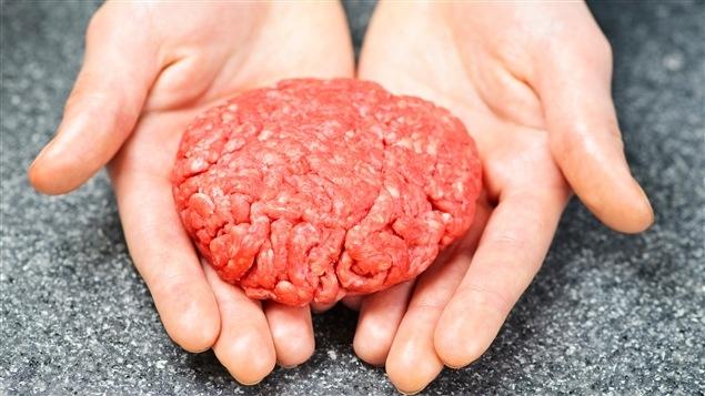 Un steak de viande hachée