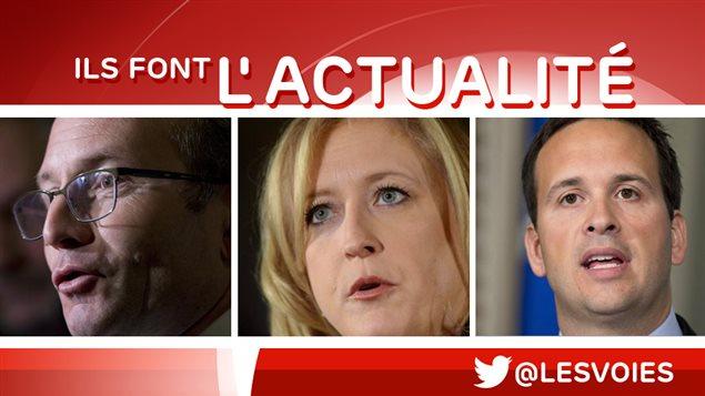 Martin Coiteux, Lisa Raitt et Alexandre Cloutier