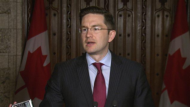 Le ministre conservateur de l'Emploi et du Développement social, Pierre Poilièvre