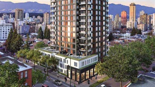 Image de la future tour du 1171 rue Jervis.