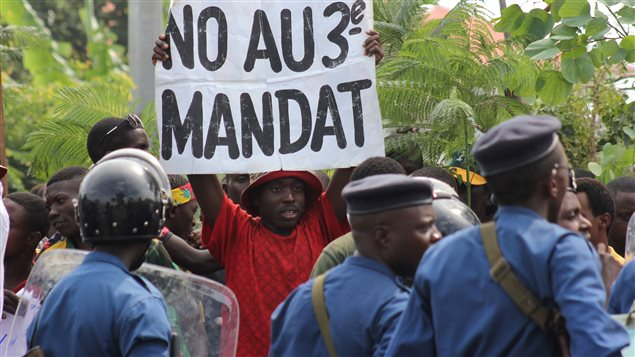 Manifestation dans la capitale du Burundi contre le président Pierre Nkurunziza