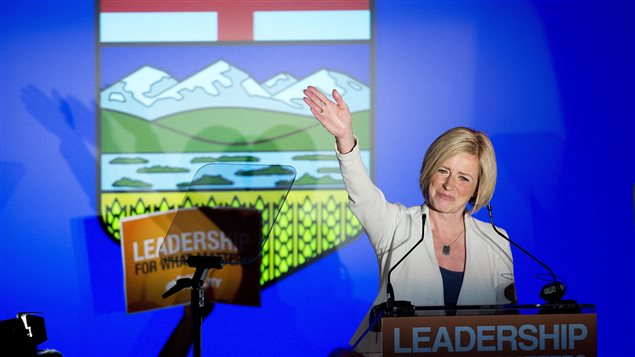 La néo-démocrate Rachel Notley, élue première ministre en Alberta