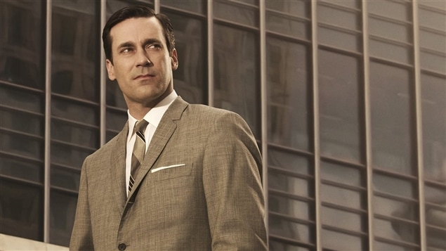 John Hamm interprète Don Draper dans la série <i>Mad Men</i>
