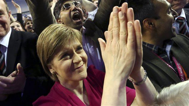 Nicola Sturgeon, première ministre de l'Écosse et chef du Parti nationalise écossais (SNP)