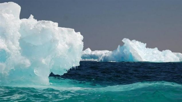 The ice melting and moving in Lake Superior little over a month ago, captured by Thunder Bay resident Paul Berger, from his kayak
