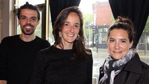 Geoffrey Diackiw, Rocio Carvajo et Josiane Crampé, gagnants du concours Architecture at Zero