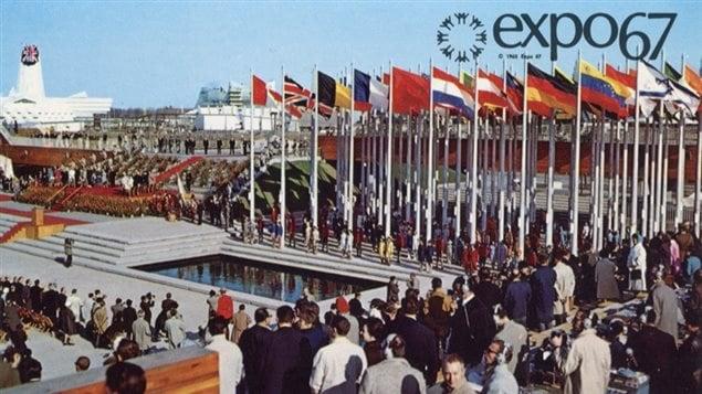 Carte postale. Cérémonie d'ouverture. Expo 67