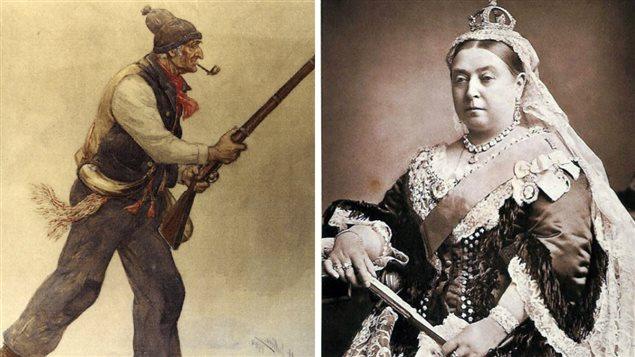 La peinture d'un Patriote et la reine Victoria