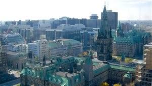 Vue du centre-ville d'Ottawa