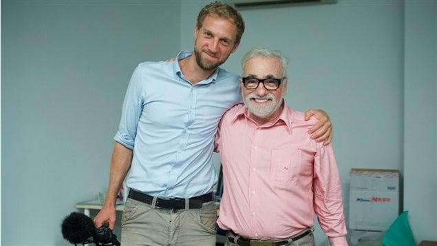 Mathieu Roy et Martin Scorsese sur le tournage de 'Silence'