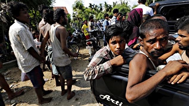 Des migrants de la minorité rohingya, secourus en Indonésie