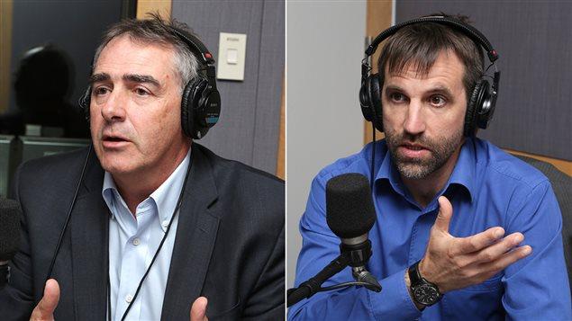 Marcel Groleau, président de l'UPA et Steven Guilbeault, directeur principal d'Équiterre