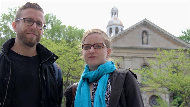 Jonathan Lapalme et Amélie Renouf, d'Héritage Montréal