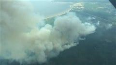 Incendie près du lac Wabasca