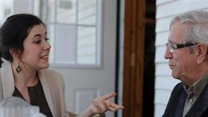 Catherine Fournier, candidate du Bloc dans Montarville et Louis Plamondon, député du Bloc dans Bas-Richelieu—Nicolet—Bécancour