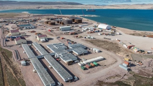 A view of Baffinland Iron Mine's camp at Milne Inlet in Nunavut in August 2014