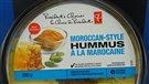 Une bactérie provoque un rappel d'hummus (2015-05-26)