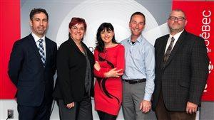 Les 4 candidats à la mairie de Saint-Augustin lors du débat organisé par ICI Québec.