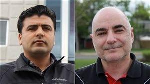 Mehmet Kocabas, du Centre communautaire turc du Québec, et Vatche Chamlian, du Comité national arménien du Canada