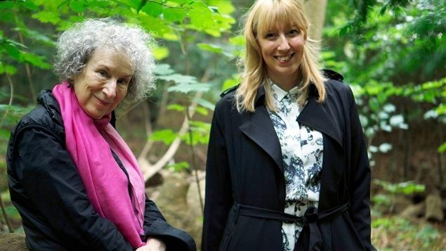 Margaret Atwood et Katie Paterson dans la forêt de la Future Library.