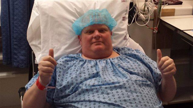 Rob Ford juste avant son opération le 11 mai 2015.