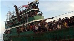Des migrants rohingyas et bangladais